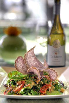 Enjoy a fresh salad at La Motte. Menu Restaurant, Wine Tasting, Beef, Summer Salad, Fresh, Chicken, Dining, Food, Meat
