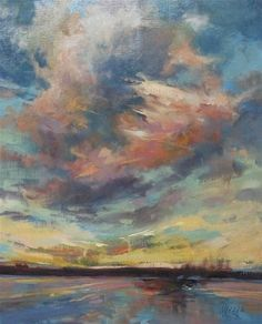 """""""Sweet Sky and an Interview"""" - Original Fine Art for Sale - © Mary Maxam"""