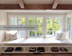 Searching for custom cushions? Checkout FoamOrder and read how you can build your own custom cushions today. Window Seat Cushions, Cushions On Sofa, Window Seats, Custom Cushions, Custom Sofa, Outdoor Seating Areas, Build Your Own, Your Space, Bench