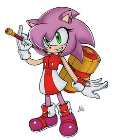 Amy Rose Redesign by Alex-The-Pyro