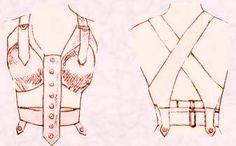 Early bra design, around 1907 according to Vogue magazine.