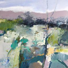 Spring Longing, 24x24 by Joan Fullerton