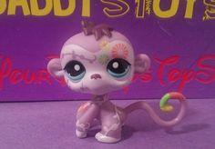 Littlest Pet Shop Fanciest Pets PURPLE MONKEY LPS 1841 teal eyes Hasbro 2007 #Hasbro