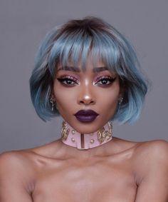 Afro, Hair Inspo, Hair Inspiration, Nyane Lebajoa, Short Hair Styles, Natural Hair Styles, Aesthetic Hair, Hair Reference, Pastel Hair