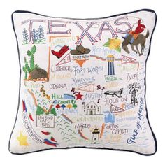 Texas Pillow – Crabapple Decor and Gifts