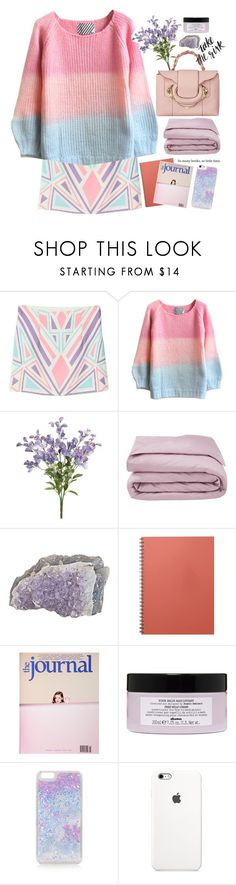 """Lilac sky"" by ngocdinh ❤ liked on Polyvore featuring Frette, Davines and Topshop"