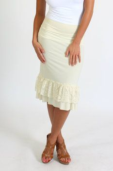 f867f6681c Shabby Chic Cream Lace Skirt Extender Cream Lace Skirt, Slip Extender,  Church Dresses,