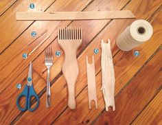 ShaleneLorraine-Beginner Weaving: 8 Tips to Get You Started Weaving Loom Diy, Weaving Tools, Weaving Projects, Diy Craft Projects, Hand Weaving, Lucet, Yarn Crafts, Diy Crafts, Weaving Designs