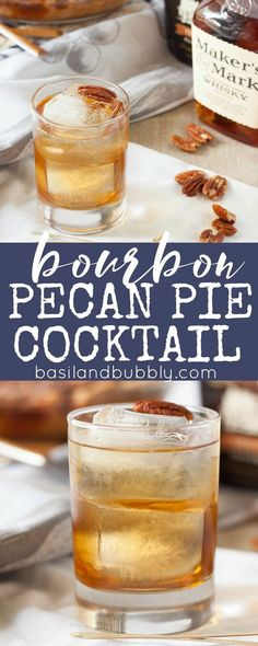 Drink your pecan pie this year for Thanksgiving in a Bourbon Pecan Pie Cocktail ( also makes a great dessert martini! ) Thanksgiving Bourbon Pecan Pie in a glass! Christmas Drinks, Holiday Cocktails, Fun Cocktails, Thanksgiving Sangria, Thanksgiving Alcoholic Drinks, Fall Drinks Alcohol, Thanksgiving 2017, Cocktail Desserts, Cocktail Recipes