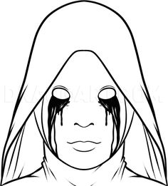 Creepy Drawings, Dark Art Drawings, Halloween Drawings, Halloween Painting, Horror Drawing, Horror Art, American Horror Story Tattoo, Scary Coloring Pages, Dark Art Illustrations