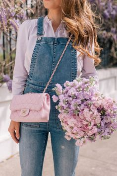 Gal Meets Glam Bringing Back Out My Favorite Overalls - Chanel Bag
