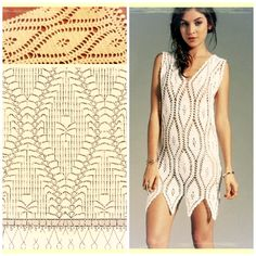 Crochet tunic with pattern.
