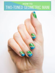 Nail Art How-To: Geometric Neon Mani - Consider this your new geometry class.