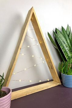 Pallet Wood Christmas Tree · vicky myers creations Do you love triangular Christmas trees,? They are simple and easy to make with a former pallet. Christmas Yarn Wreaths, Easy Christmas Ornaments, Christmas Lights, Christmas Diy, Christmas Decorations, Winter Wreaths, Spring Wreaths, Modern Christmas, Summer Wreath