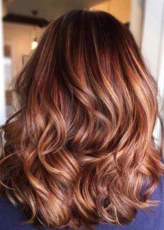 22 Best Honey Brown Hair Color Ideas for Light or Dark Hair in 2019 - Style My Hairs Hair Color Auburn, Auburn Hair, Ombre Hair Color, Hair Color Balayage, Brown Hair Colors, Hair Colour, Curly Hair Styles, Natural Hair Styles, Pattern Cute