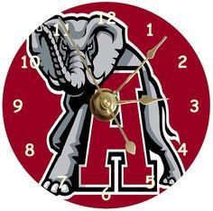 NEW Alabama Crimson Tide CD Clock | eBay