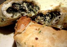 Sambusak filled with feta and spinach