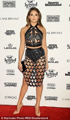 Never fully dressed:Kyra Santoro was in excitable spirits as she showed off her experimen...