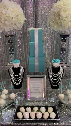 Extraordinary verbalized quinceanera party decor Book now Tiffany Blue Party, Tiffany Birthday Party, Tiffany Blue Weddings, Tiffany Theme, Tiffany Wedding, Tiffany Blue Quince, Tiffany Co Party Ideas, Tiffany Sweet 16, Paris Themed Birthday Party