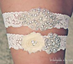 Wedding Garter Set - Toss Garter - Bridal Garter -Wedding- Crystal Garter-Rhinestone Garter-Vintage Garter-Vintage Wedding