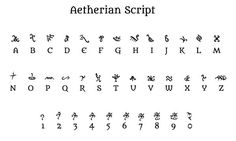 Aetherian' Script. | Strange & Weird Alphabets. | Pinterest | The ...