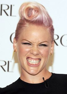 Short Funky Hairstyles - Light Pink, Wavy Spike