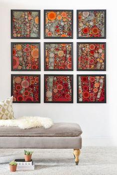 Olivia St Claire Random Framed Wall Mural | DENY Designs Home Accessories $349, earthy modern abstract art, geometric design, modern art