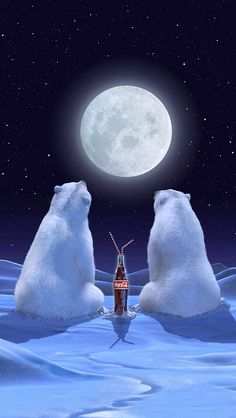 Coca cola polar bears.