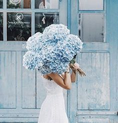66 ideas for wedding flowers blue peonies White Wedding Flowers, My Flower, Beautiful Flowers, Big Flowers, White Flowers, Flower Types, Blue Peonies, Arte Floral, Planting Flowers