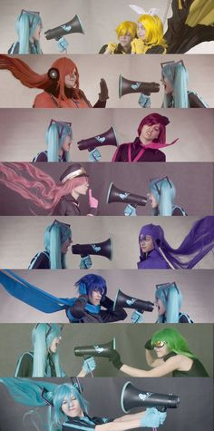 Vocaloid Cosplay  Wow this is adorable and amazing! <3  The expressions are priceless! XD