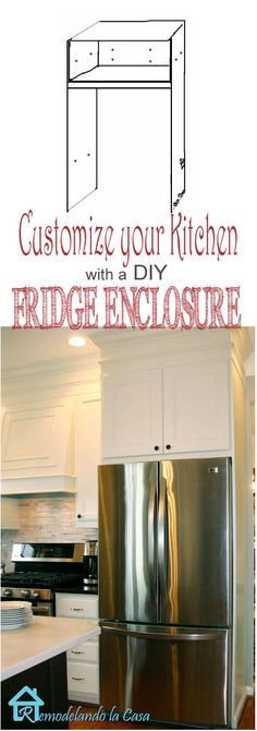How to build a fridge enclosure - Kitchen Makeover
