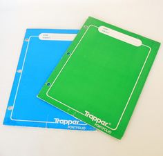 Trapper, label with your name, subject for school, and slip it into your binder