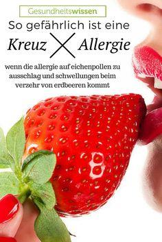 Kreuzallergien – Hast Du eine Allergie auf Latex, kann es u.U. zu einer Allergie auf Bananen kommen. Die Allergene von Birken ähneln denen von Himbeeren, Allergene von Gräsern denen von Soja. Das liegt daran, dass manche Eiweiße von Nahrungsmitteln ähnliche Strukturen aufweisen wie die von Pollen. Das kann gefährlich werden wenn man Obst oder Gemüse verzehrt und plötzlich Schwellungen erfährt, die lebensbedrohlich werden. Kreuzallergien müssen genau beobachtet werden!