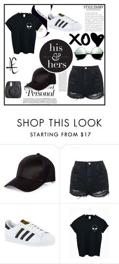 """""""Bez naslova #34"""" by abecic3 ❤ liked on Polyvore featuring River Island, Topshop, adidas, WithChic and Revo"""