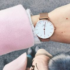 Daniel Wellington Classic Petite, Pretty Outfits, Pretty Clothes, Watches, Jewelry, Concept, Nails, Women, Life