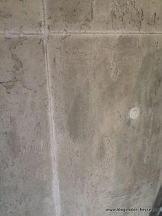Beton Optik, Betonoptik auf Wänden  von Hand erstellte Betonoptik. Aufnahme direkt auf der Baustelle. Ausgeführt von http://www.maler-heyse.de