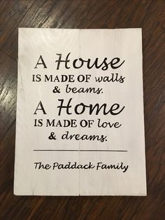 Pallet sign as a house warming gift