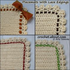 Half Double Crochet Placemat: How to Embellish Your Crochet Lace Edging With Ribbon or Yarn
