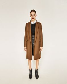 MASCULINE DOUBLE BREASTED COAT-View all-OUTERWEAR-WOMAN | ZARA United States