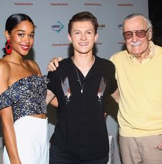 Laura Harrier | Tom Holland | Stan Lee | Spiderman | Spider-Man Homecoming | Mexico City fan event |