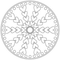 Free Mandala Coloring Pages. All holiday coloring sheets are printable. Heart Coloring Pages, Mandala Coloring Pages, Colouring Pages, Adult Coloring Pages, Coloring Sheets, Coloring Books, Free Coloring, Zentangle Patterns, Embroidery Patterns