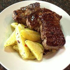 Steak and potato dinner …. For two (Taken with Instagram at les Grasberger's)