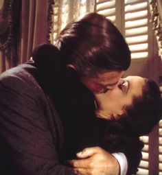 Most iconic kisses from TV & movies -  Gallery   Glo / Rhett Butler and Scarlett O'Hara - Gone with the Wind.