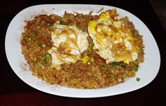 Kimchi Fried Rice with Fried Egg - Home Made, very good recipe!     http://www.foodnetwork.com/recipes/kimchi-fried-rice-with-fried-egg-recipe/index.html