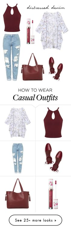 """""""Casual Day"""" by agnes-18 on Polyvore featuring Topshop, Miss Selfridge, Tory Burch, Street Level and Sephora Collection"""