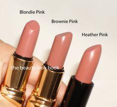 Bobbi Brown Blondie Pink, Brownie Pink & Heather Pink Lipsticks