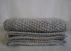 Сloth (blanket, plaid, stole, cape) of pure undyed wool by SolarisArtis on Etsy