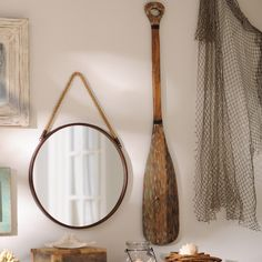 The Wooden Oar Wall Plaque is the perfect addition to a beach house! Its rustic style and natural finish make it look like it's right off the water. Add this wall decor to your coastal cottage for only $19.98 through 7/24.
