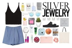 """""""set #40 - silver jewelry"""" by chocolatexme ❤ liked on Polyvore"""