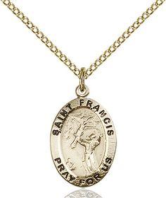 Gold Plate Heavy Curb Chain Patron Saint 2 x 1 5//8 14kt Gold Filled Cursillio Cross Pendant